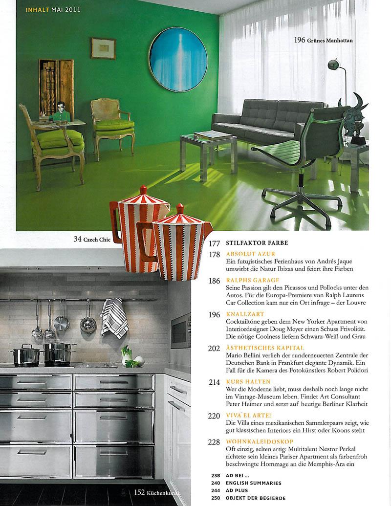 Architectural Digest, Kuchenkunst - Page 1