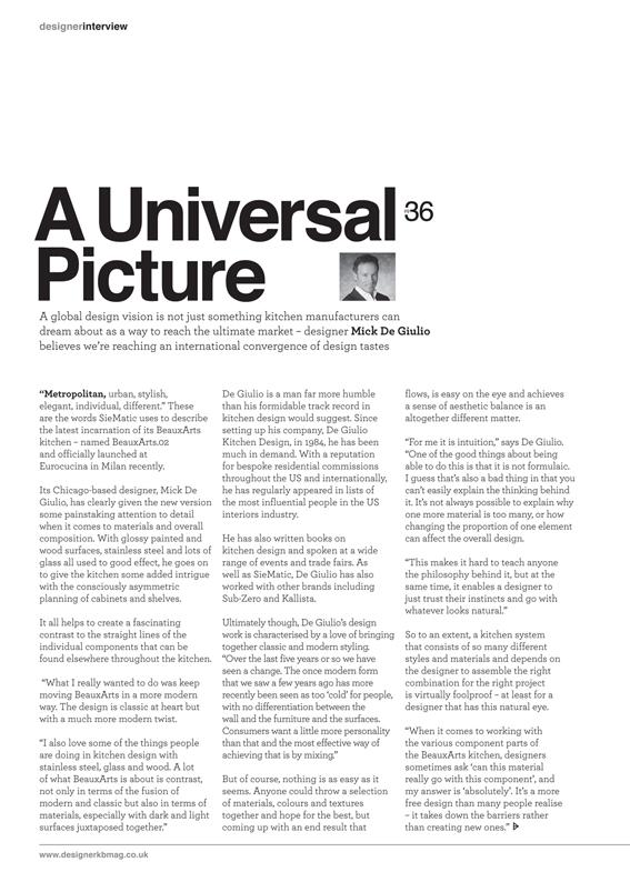Kitchen & Bathroom Designer (UK), A Universal Picture - Page 1