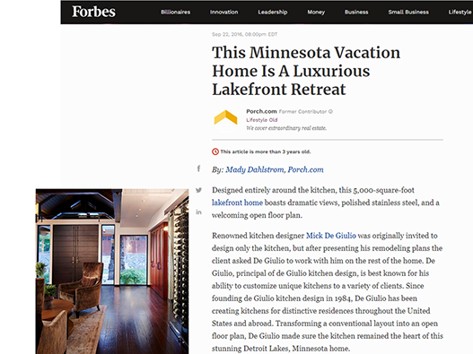 Forbes, This Minnesota Vacation Home is a Luxurious Lakefront Retreat